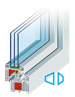 Ideal 8000 6-kambriline süsteem, 85 mm paks profiil, kolme tihendiga, spetsiaalsete komponentide lisamisel soojapidavus profiilil kuni U-1,0 W/m2K (passiivmaja võimekus), Väga stabiilne profiil mis võimaldab luua erilisi konstruktsioone.