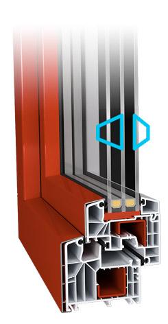IDEAL 8000® 85 mm paksusega profiil – energeetiliselt ja visuaalselt kõrgeim tase. IDEAL 8000® on 85 mm paksuse profiiliga pakettaken. Suure paksuse ja filigraanse disaini kombineerimisega on loodud nii energeetiliselt kui ka optiliselt kõrgeimal tasemel pakettaken. Suur profiili paksus ning 6-kambriline süsteem tagavad optimaalse soojusisolatsiooni ja meeldiva vaikuse ruumis. Eelised • Võimalik saavutada soojapidavus (Uw) kuni 0,67 W/m²K • 6-kambriline profiil • Kolmekordse tihendiga keskne tihendus • Klassikaline peen tiibaken • Profiilisisene terasarmatuur tagab stabiilsuse isegi suurte akende puhul • Lameda liistuga variandi puhul on võimalik kuni 51 mm paksune klaaspakett • Poolümara liistuga variandi puhul on võimalik kuni 59 mm paksune klaaspakett • Sügaval asetsev paigalduskanal optimaalseks sissetungikaitseks • Saadaval paljude viimistlustega