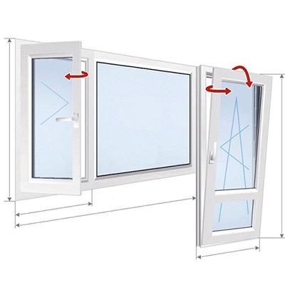 A: 2-оконное окно + дверь
