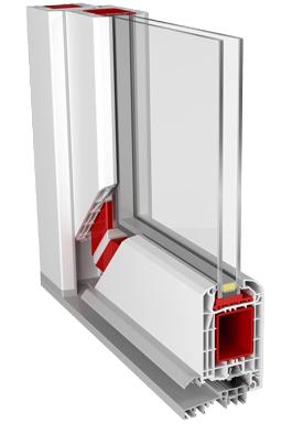 Профиль двери с двойной упаковкой.