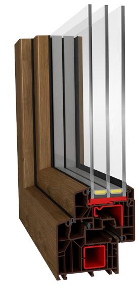 Värviline PVC aknaraam.